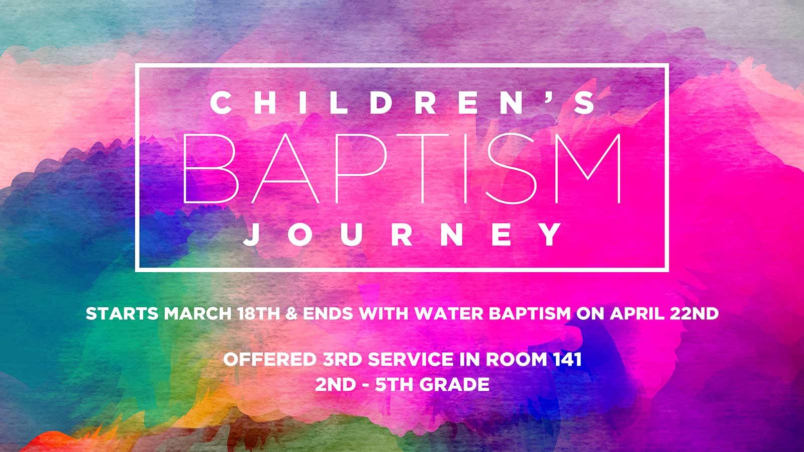Children's Baptism Journey