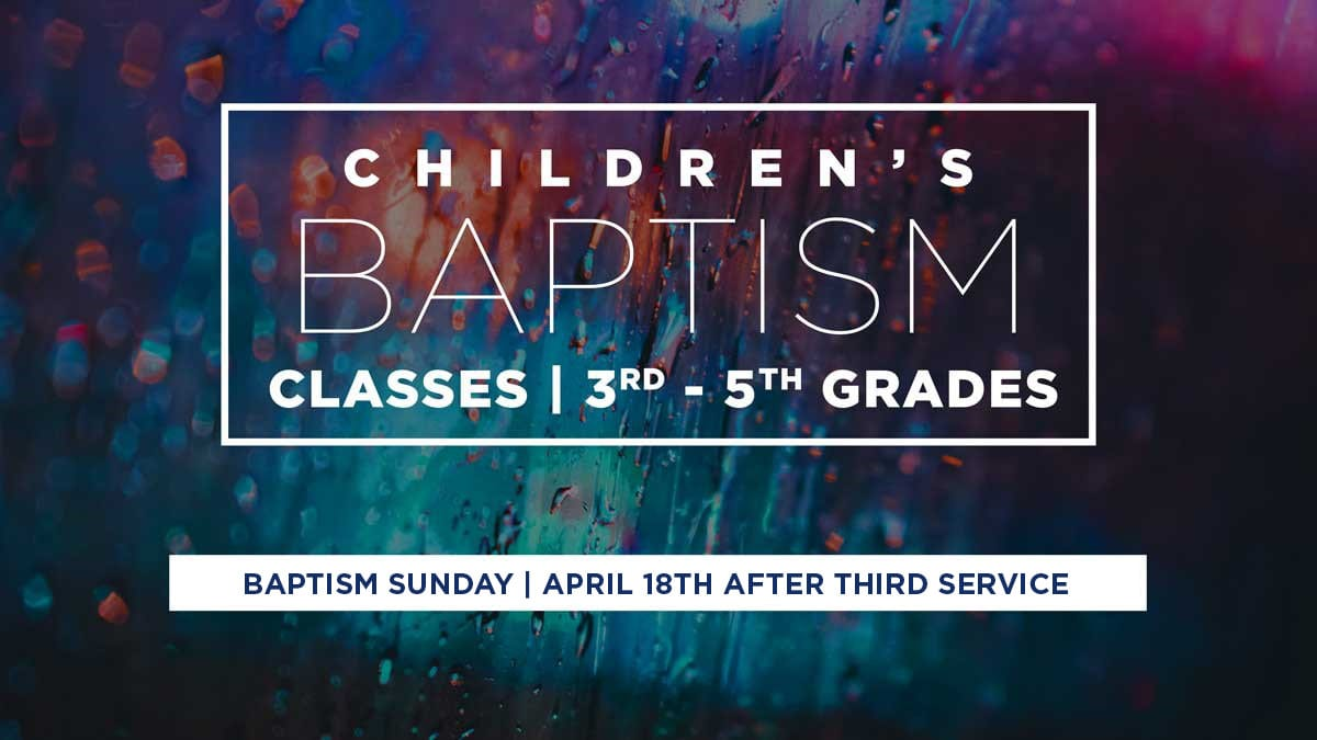 Children's Baptism April 18